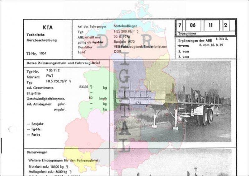 Sattelauflieger HLS 200.78/P