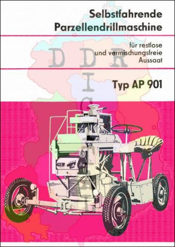 Selbstfahrende Parzellendrillmaschine AP 901