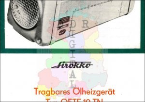 Tragbares Ölheizgerät Typ OETF 10 TN