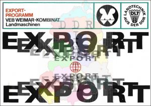 Export-Programm VEB Weimar-Kombinat Landmaschinen