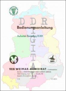 Bedienungsanleitung Aufsattel-Beetpflug B 201
