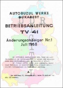 Betriebsanleitung TV 41 Änderungsanzeiger Nr. 1
