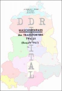 Maschinenpass des Transporters TV 41-51