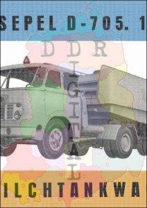 Csepel D-705. 14-4, Milchtankwagen