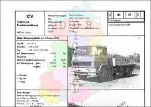 Lastkraftwagen LIAZ 110.031/HR 3001