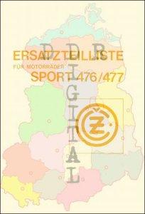 Ersatzteilliste für Motorräder Sport 476/477