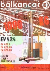 Elektroschubrahmenstapler EV 424, EV 424.1, EV 424.45, EV 424.56