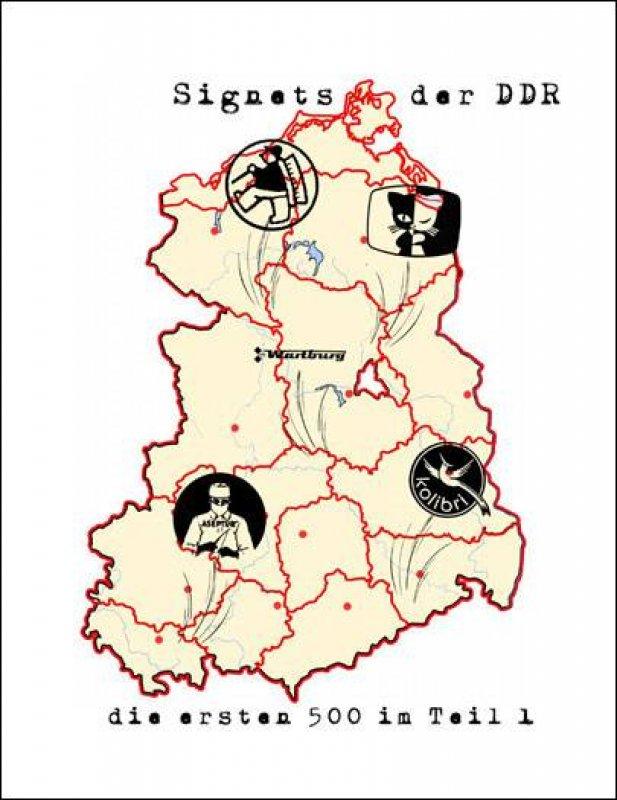 Signets der DDR - die ersten 500 in Teil 1