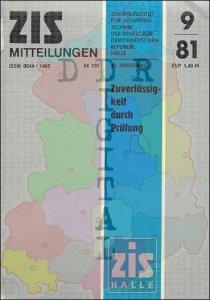 ZIS Mitteilungen 9/81