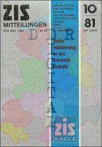 ZIS Mitteilungen 10/81