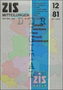 ZIS Mitteilungen 12/81