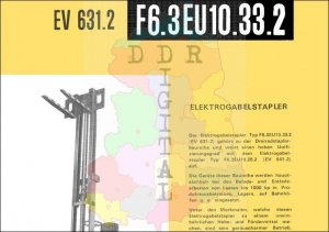 Elektrogabelstapler F6.3EU10.33.2 EV 631.2