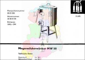 Magermilcherwärmer MW 50