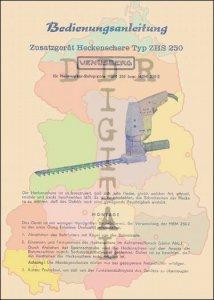 Zusatzgerät Heckenschere Typ ZHS 250